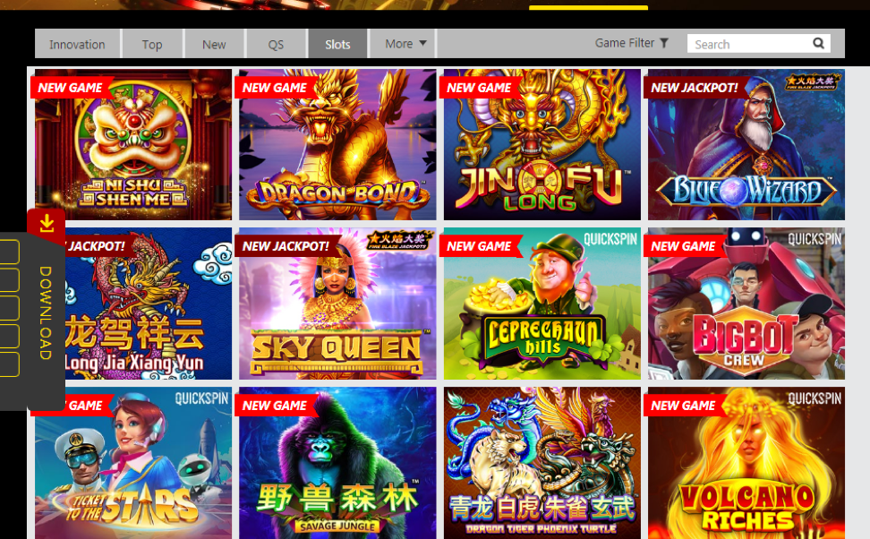 Dafabet choice of slots is constantly increasing