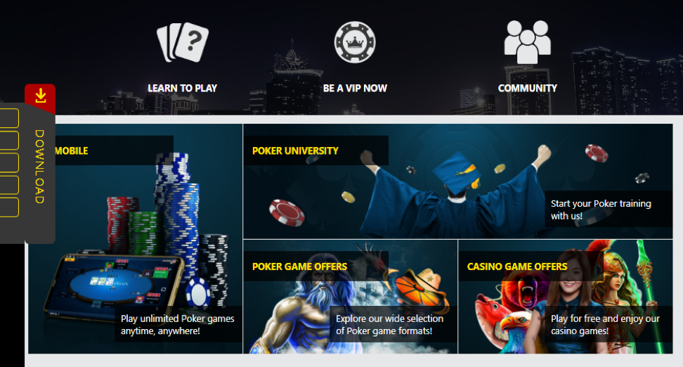 Online poker section on the site DafaBet