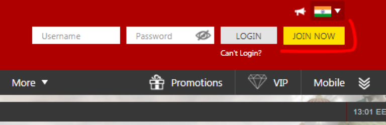 Registration on site DafaBet